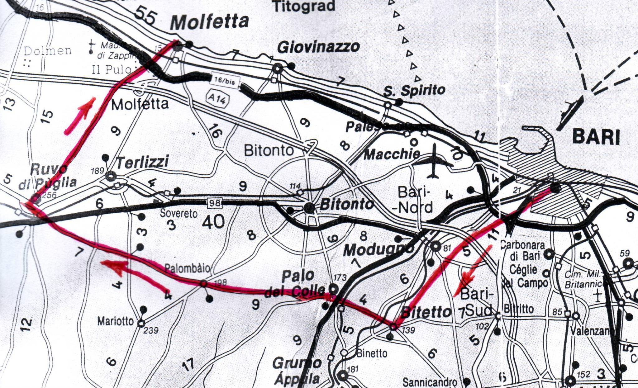 Ruvo Di Puglia Cartina.In Bici A Ruvo Di Puglia Fiab Bari Ruotalibera Associazione Di Ciclisti Urbani